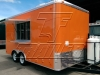 Orange 16ft concession trailer - exterior 2