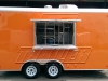 Orange 16ft concession trailer - exterior 1