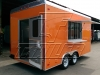 Orange 16ft concession trailer - rear view