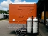 Orange 16ft concession trailer - exterior 6