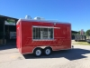 Red 16ft concession trailer exterior 1