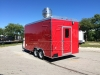 Red 16ft concession trailer exterior 3