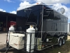 Black 16ft concession trailer exterior 1