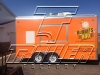 Orange 16ft concession trailer - exterior 3