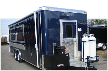 Custom concession trailers and concession stands for sale.