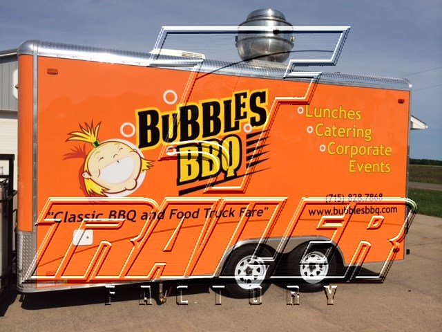 orange concession trailer 16ft orange