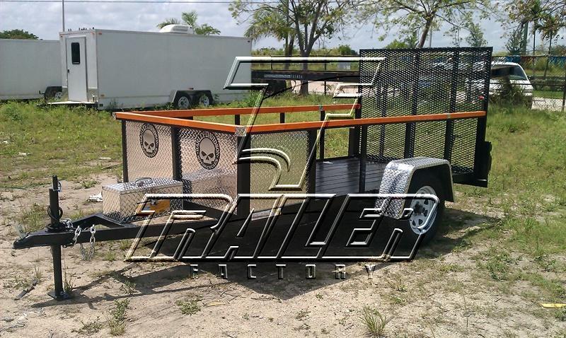 Pulling A Single Axle Open Trailer : Single axle custom open motorcycle trailer