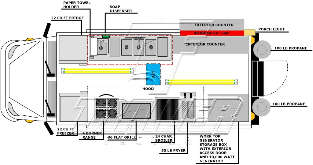 10 39 x 16 39 food truck for Food truck design layout