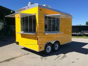 Custom yellow concession trailer 8.6x14