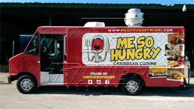 Image of brand new food truck from Custom Food Truck Builder based in Miami, USA.